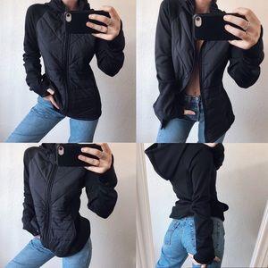 Cozy Black Fila Jacket